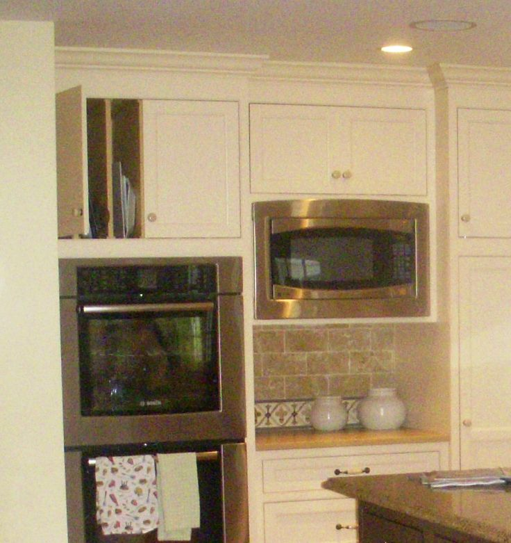 "Wall Oven Cabinets: This Microwave Is 54"" Above The Finished Floor, And Has"