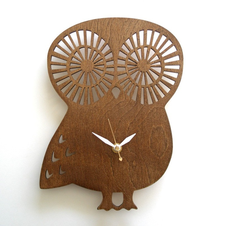 17 best images about wood ideas on pinterest white clocks clock and unusual gifts - Albero modern cuckoo clock ...