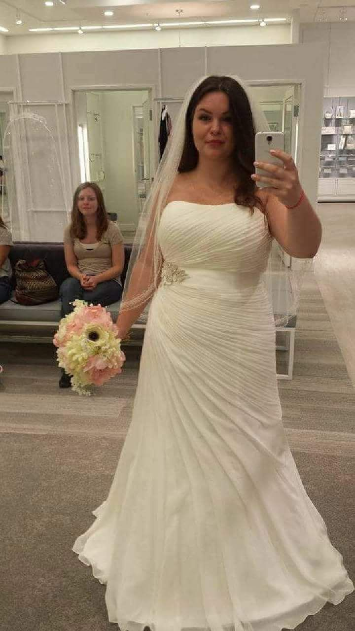strapless plus size ruched wedding gown from Darius Bridal ...