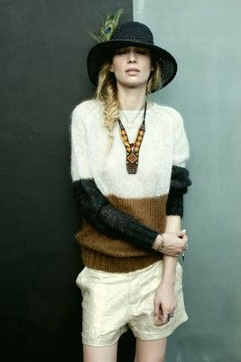 rabens saloner ::: fuzzy sweaters and shorts