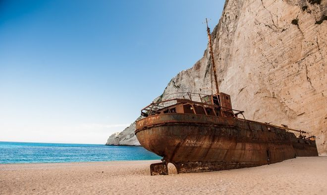 Shipwreck the famous Zakynthos beach | Smile Greek