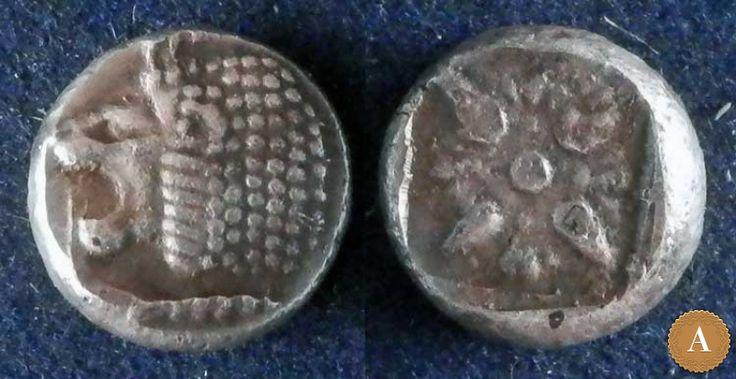 Иония, Милет, 525-475 годы до Р.Х., обол. | ANDREY PYATYGIN ANCIENT COINS | Магазины | Антикварус