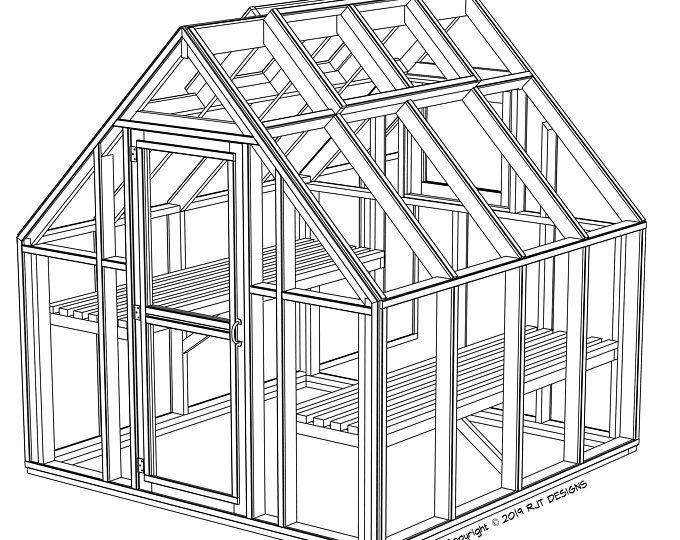 6 10 X 8 0 Greenhouse Plans Pdf Version Greenhouse Plans