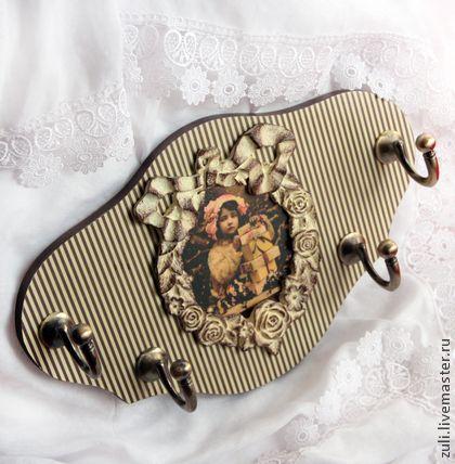 """Вешалка для юной леди """"Полосатое эстетство"""" - вешалка для одежды,вешалка для детской"""