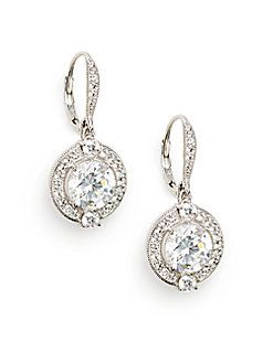 Adriana Orsini - Pavé Drop Earrings I like the style, doesn't have to be the designer