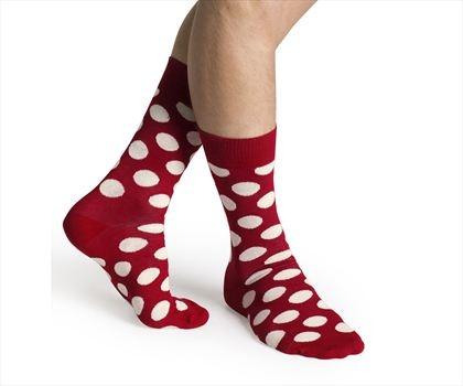 Happy socks Big Dot Beyaz-Kırmızı Puanlı #Bonvagon`da
