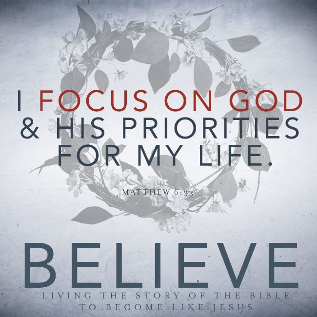 If we focus on God and His will for our lives, He gives us His peace during all circumstances.
