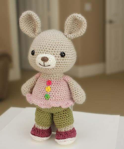 Amigurumi Pig Rabbit : Rosie bunny amigurumi pattern by Little Muggles Shops ...