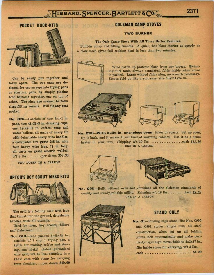 Best 25 coleman camping ideas on pinterest led lantern lights 1927 ad coleman camp stove pocket kook kits american kamp kook kampkook sciox Gallery