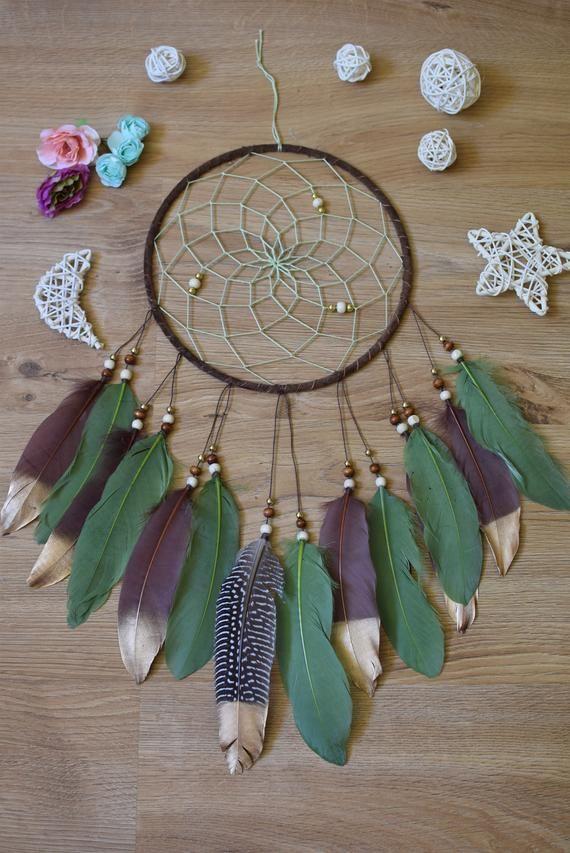 e06bbbed24 Native American Dream Catcher, Dreamcatcher Decor Boho Wall Hanging Decor Dream  Catcher