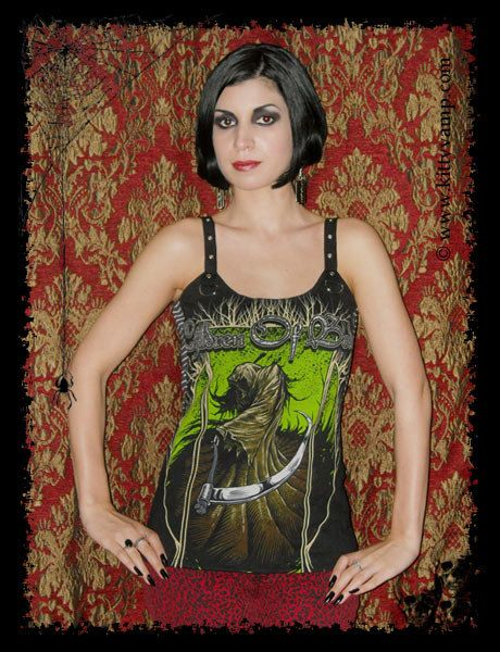 Children of Bodom Reaper Strap Top Tank Metal par kittyvampdesigns, $39.99