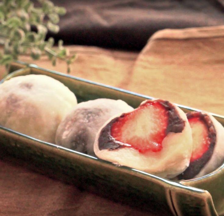 自宅でカンタン♩お餅を使って自家製「いちご大福」の作り方 - macaroni