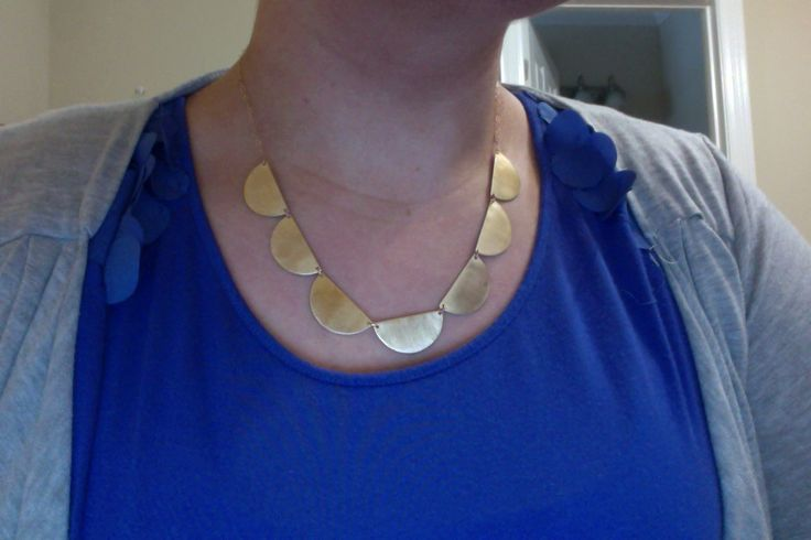 Brass scalloped necklace from @Jennie Claire #jennieclaire