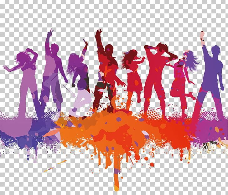 Dance Party Dance Party Silhouette Png Color Pencil Color Powder Color Splash Color Vector Computer Wallpaper Silhouette Png Color Vector Color Splash