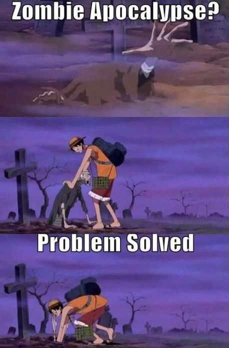 Luffy will fix it, but until he gets there to do something incredibly stupid, you should just run because let's face it, only he could pull that off without any consequences.