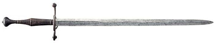 Hand-and-a-half Sword  Dated: circa 1550-80 Culture: German or Swiss Measurements: overall length 123.6 cm; blade length: 95.3 cm; width: 23.5 cm