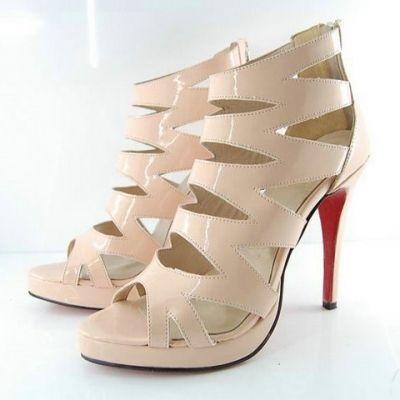 Multi-strap High-heeled Sandals Nude [l009ps0047]- US$ 91.99 - PersunMall.com