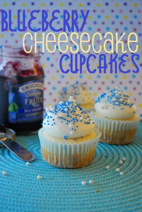 Blueberry Cheesecake Cupcakes.