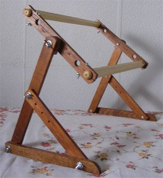 how to make a needlework lap frame