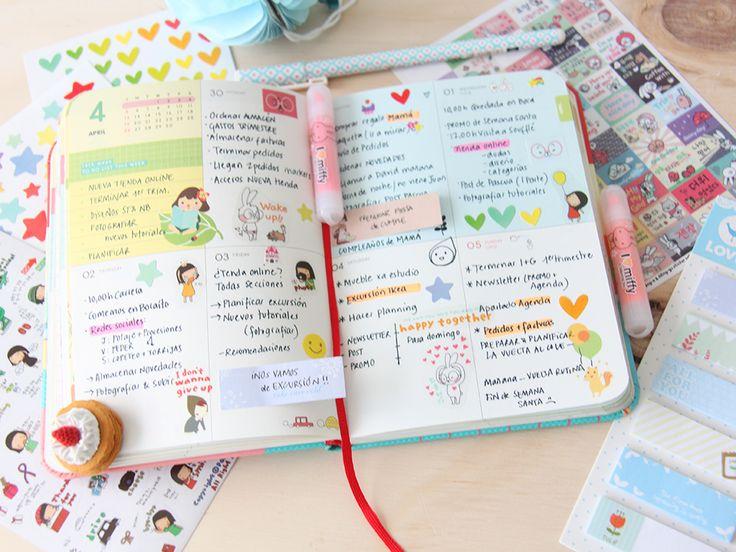 Little Hannah: Craft diaries: así organizo yo mi agenda