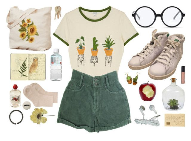 """""""Getting leafy 🌿"""" by mothiemoo ❤ liked on Polyvore featuring Monki, Forever 21, adidas, Soap & Paper Factory, L'Oréal Paris, Hot Topic, Erika Cavallini Semi-Couture, Moleskine, Dot & Bo and vintage"""