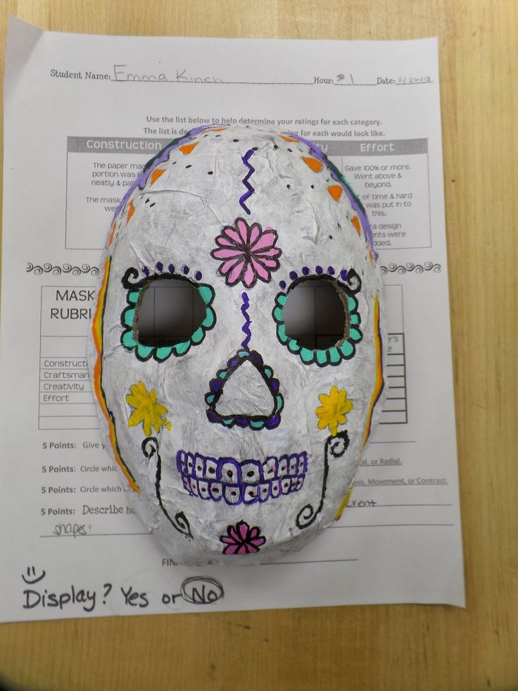 Adventures of a Middle School Art Teacher: 8th Grade Sugar Skull masks