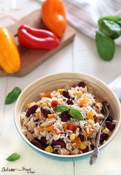 Riso freddo con fagioli e tonno: l'insalata di riso messicana veloce ricetta Dulcisss in forno