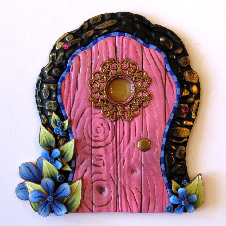 1000 images about clay doors for fairies on for Fairy door wall art