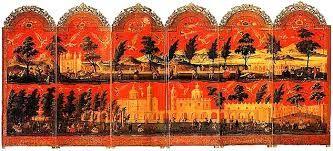 Resultado de imagen de biombos siglo XVIII