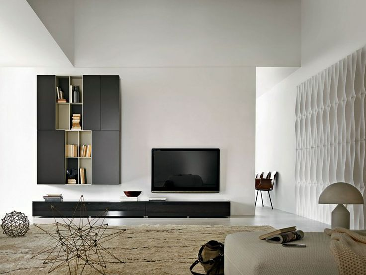 Sectional TV wall system PASS | Sectional storage wall - MOLTENI & C.
