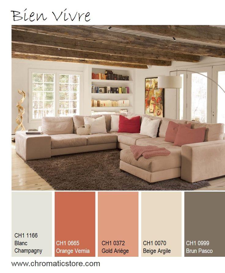 Un salon tout en simplicité privilégiant l'harmonie au naturel grâce aux tonalités terreuses. www.chromaticstore.com #deco #naturel #beige