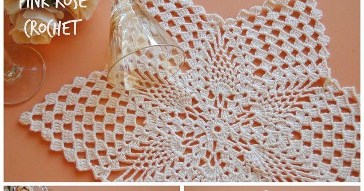 Olá!   Um delicado modelo de Centrinho  Estrela com Abacaxis, eu fiz há bastante tempo.   Aqui---> Mais Centrinhos Pineapple Doily
