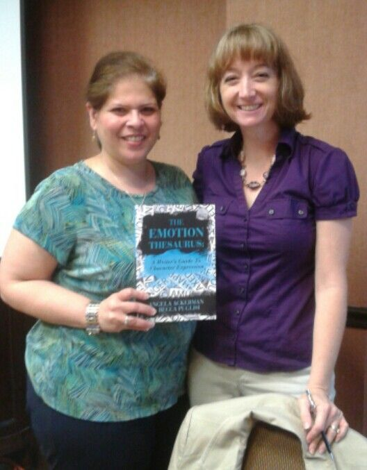 Excited to meet Becca Puglisi, author of The Emotional Thesaurus.