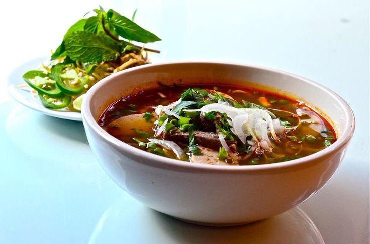 Bun Bo hue- spicy noodle beef soup - Far East Nashville restaurant