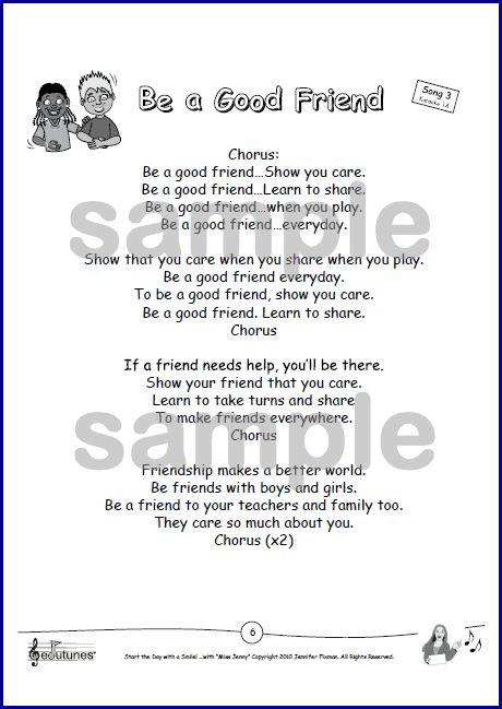 Be a Good Friend: Song for Teaching About Friendship