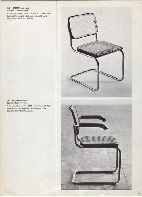 Marcel Breuer -- tubular steel