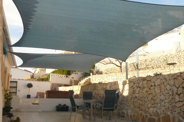 Garden Sun Shade Sails by Coolashade are the new ''Toldos'' for your garden or terrace in Spain.