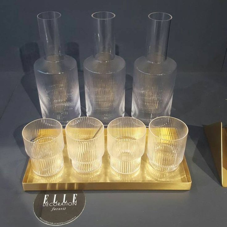ferm LIVING's Ripple series consisting of the Ripple Glasses and Ripple carafe is an Elle decorations favourite: http://www.fermliving.com/webshop/shop/kitchen.aspx