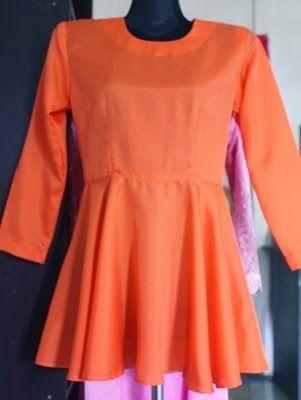 SWEET AND SIMPLE: cara jahit baju kurung peeplum