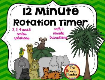 This 12 minute automated timer may be used for any rotation groups in your…