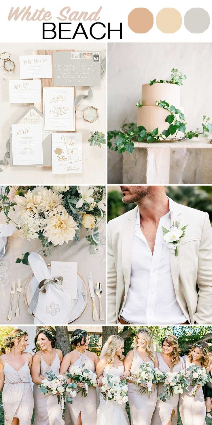 So whether you're a nautical bride or a classic bride, these are the 5 summer wedding color palettes that are perfect for your sunshine-filled day!