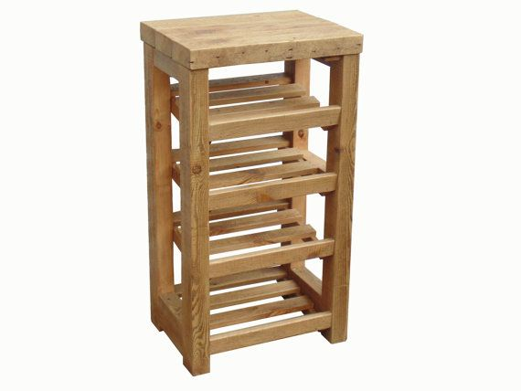 tall boy rustic wooden shoe rack with chunky table top on shoe rack wooden with door id=40846