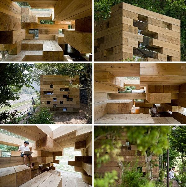 jenga-house: Wooden Houses, Architecture Sou Fujimoto, Fujimoto Architects, Finals Wooden, Backyard Spaces, Architecturesou Fujimoto, Fujimoto Finals, Wood Houses, Design Blog