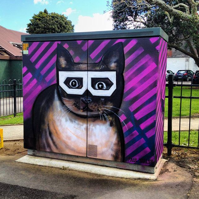 Street Artist Creates Wonderful Paintings on Telephone Utility Boxes in Auckland, New Zealand – SO Artistic (Eye and Eyewear Inspired Art)