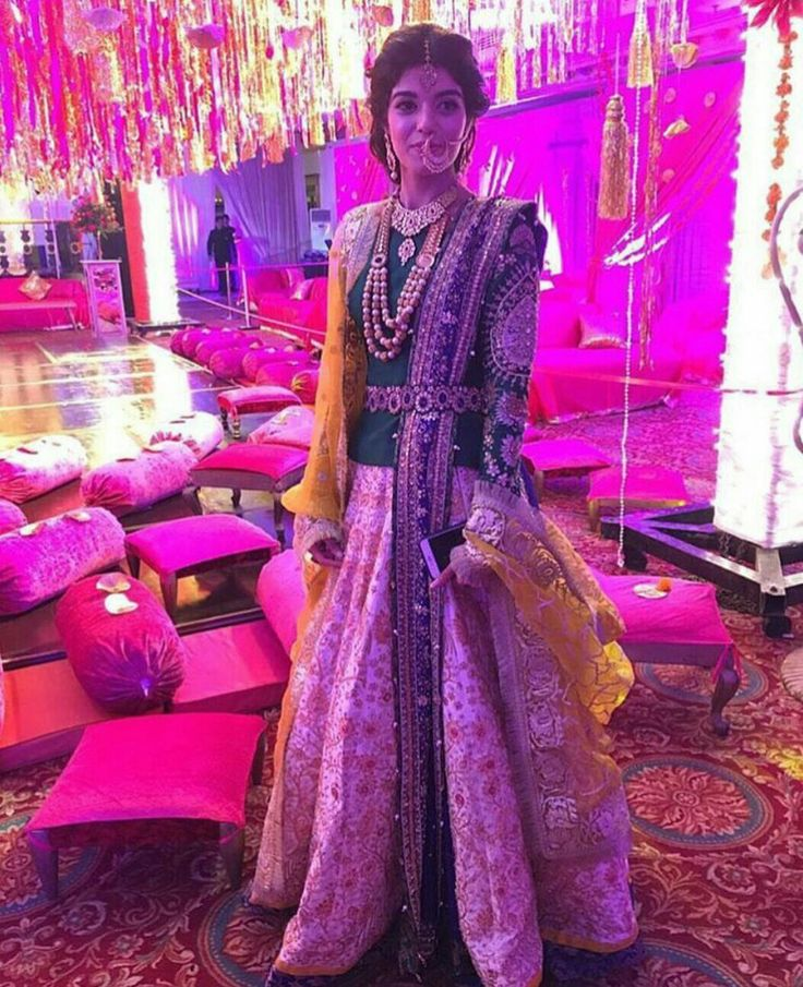 Beautiful dress with green combination for a wedding # design #indianBride #indianBride glam