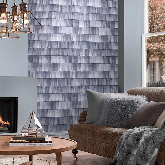 Hygge Steel Wallpaper, , large