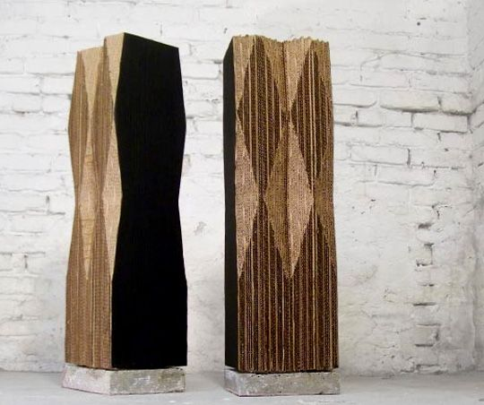 architectural cat scratching post with concrete base - sleek and modern - $145