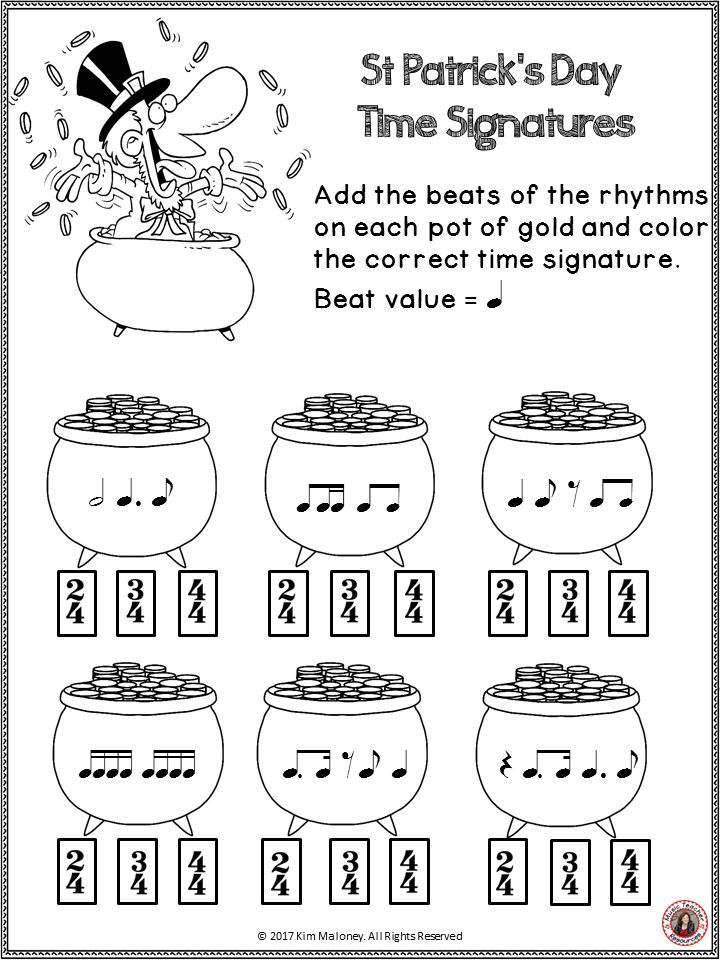 Free music worksheets for primary school