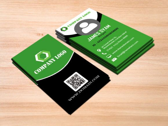 Clean Vertical Business Card With Images Vertical Business