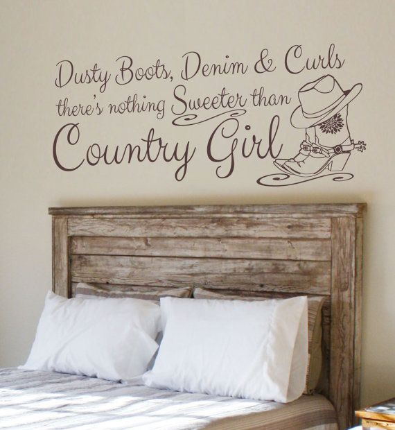 Boots Curls Country Girl Vinyl Wall Decal Southern